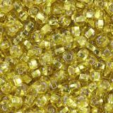 perles Preciosa Rocaille transparent silver lined yellow sun 2.1 mm