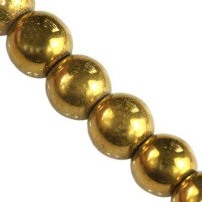 koraliki Bubble AB złote 6 mm