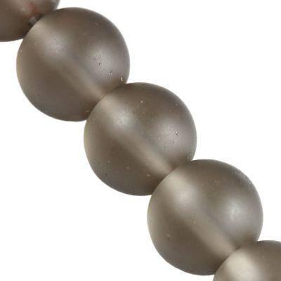 Perles gris givré 12 mm
