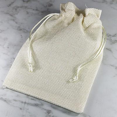 linen bag beige 13 x 18 cm