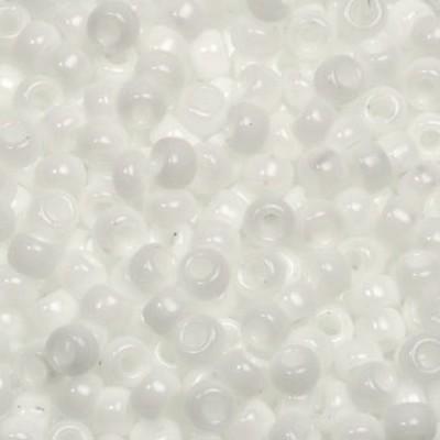 Miyuki round beads opaque matte white 8/0 #8-402F