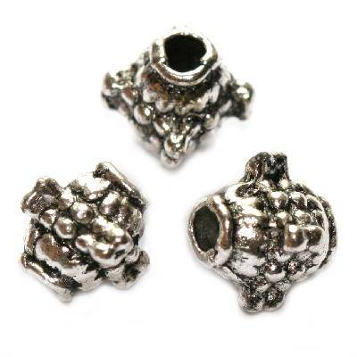 metal bugle bead 8 mm