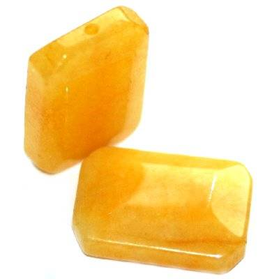 nephrite bricks amber 14 x 20 mm / semi-precious stone