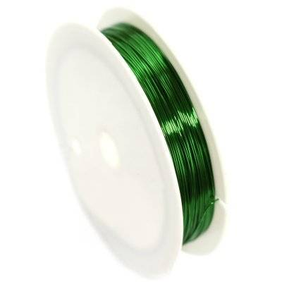 copper wire green 0.4 mm