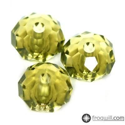 Swarovski briolette beads khaki 6 mm