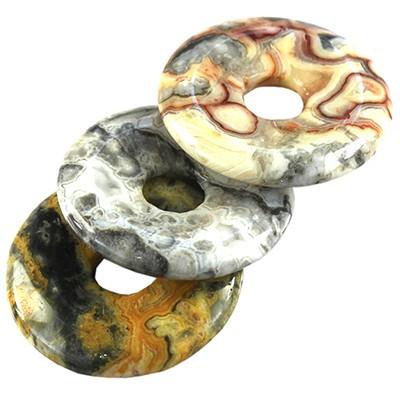 zawieszki okrągłe agat pasiasty 40 mm kamień półszlachetny naturalny