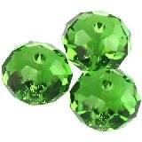 Swarovski briolette beads fern green 8 mm
