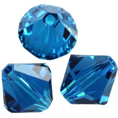 Swarovski bicone beads capri blue 4 mm