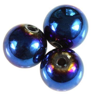 hematite azul rodada seis milímetros