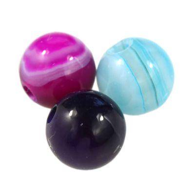 agate beads smooth mix 6 mm / semi-precious stone