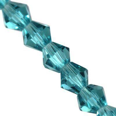 CrystaLine bicones blue zircon 4 mm / crystal beads