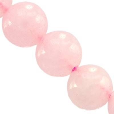 rose quartz round beads 10 mm / semi-precious stone