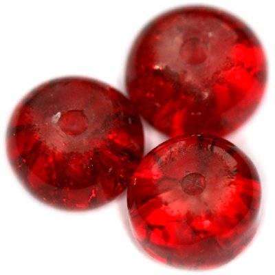 crackle krążki czerwone 8 x 5 mm