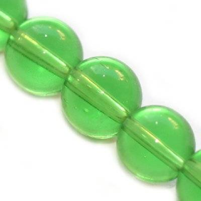 glass beads green 8 mm