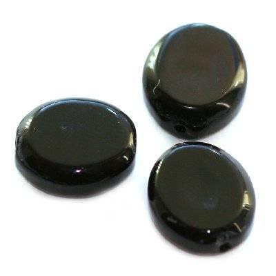 owale czarne 10 x 12 mm