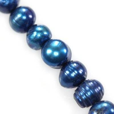 freshwater pearls 6-7 mm blue