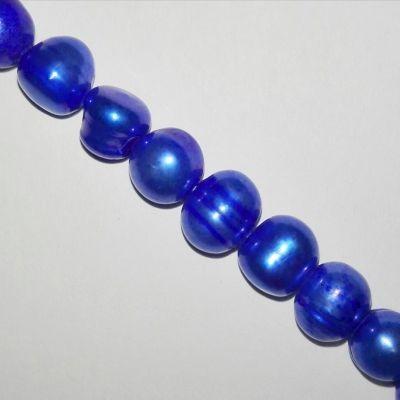 perle d'acqua dolce 6-7 mm blu