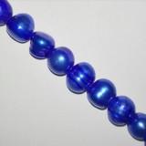 perełki słodkowodne 6-7 mm niebieskie