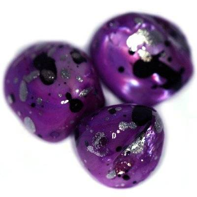 Perlmutter Klumpen gesprenkelt amethystfarben