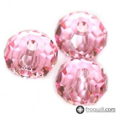 Swarovski briolette beads light rose 6 mm