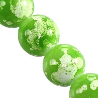 Perles de verre de 14 mm de menthe galactique