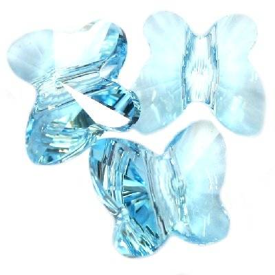 Swarovski butterfly beads aqua 8 mm