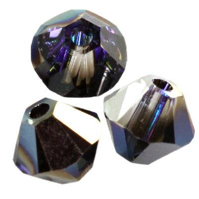 Swarovski bicone beads crystal heliotrope 4 mm