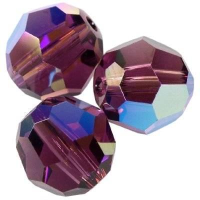 Swarovski round beads amethyst ab 8 mm
