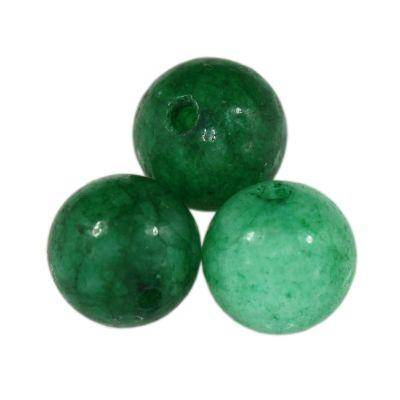 jade beads green 4 mm / semi-precious stone dyed