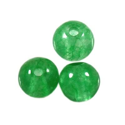 jadeit zielony 4 mm kamień naturalny barwiony