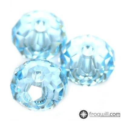 Swarovski briolette beads aquamarine 6 mm