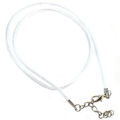 necklace wax cord white