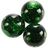 glass beads galactic transparent emerald 12 mm