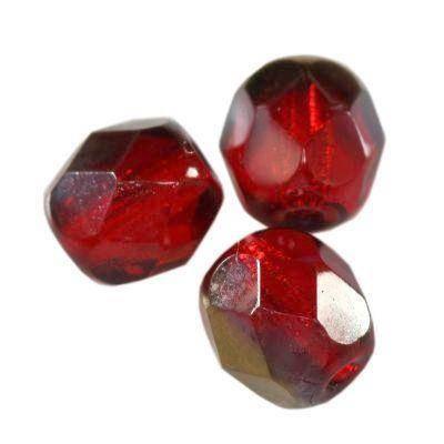 round beads dark siam ab 6 mm