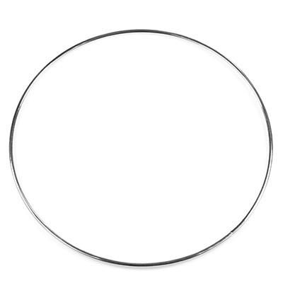 Anello mestiere del metallo per Dream Catcher 15 cm di colore argento / cerchi