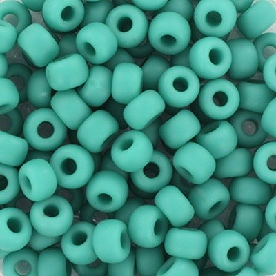 Perles Miyuki rocailles 6/0 opaque matte turquoise green #6-412F