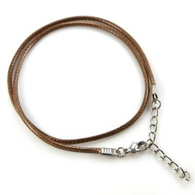 necklace wax cord brown