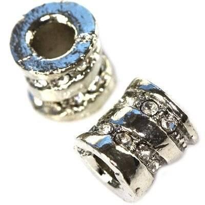 perles modulaires vis argenté 9 x 10 mm