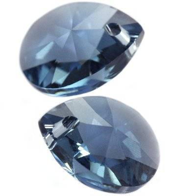 Swarovski xilion pear pendants denim blue 10 mm