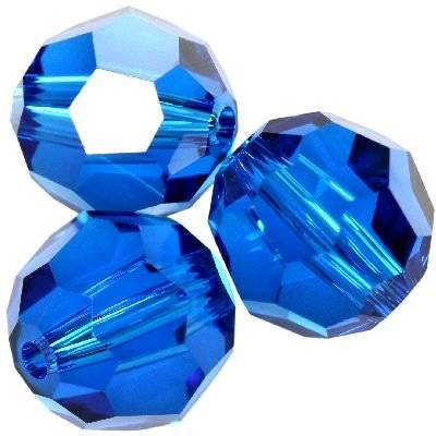Swarovski round beads capri blue 8 mm
