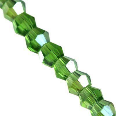Crystaline bicônes verts AB 2 mm / perles de cristal