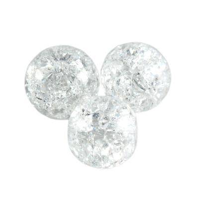 round natural crackle crystal 6 mm