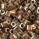 Toho beads cube gold-lustered african sunset 1.5 mm TC-01-329