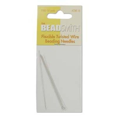 Beadsmith needle twisted wire fine 10pcs