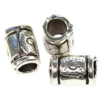 metal bugle bead 9 mm