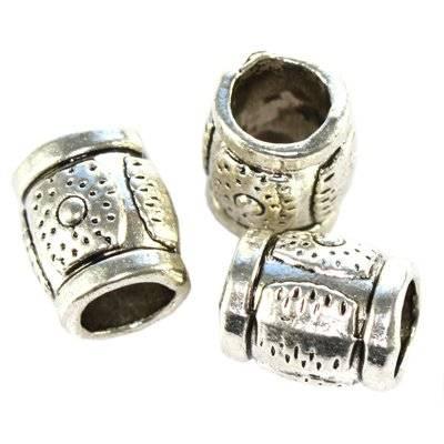 metal bugle bead 9 mm