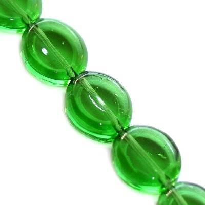 owale zielone 10 x 13 мм / koraliki szklane