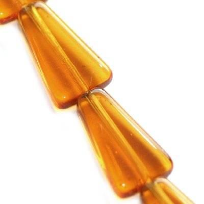 strzały brązowe 16 mm / koraliki szklane