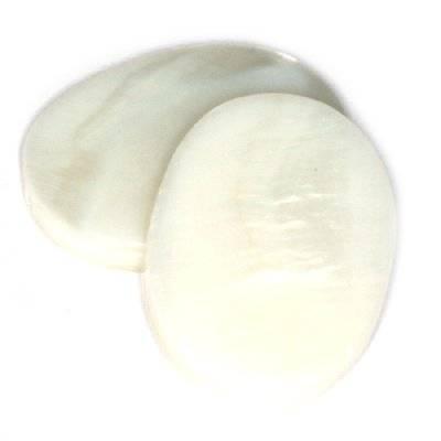 nacre ovales 13 x 18 mm naturelles