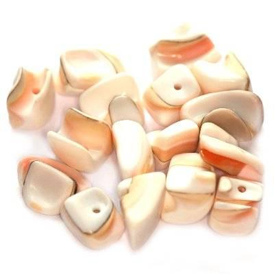 masa perłowa kamyczki podłużne naturalne 0.7-1.5 cm